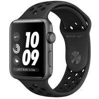 Apple Watch Series 3 38mm Aluminum Case with Nike Sport Band SpaceGr Al/Bl NikeBand - Интернет магазин AT-STORE в Екатеринбурге