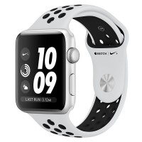 Apple Watch Series 3 38mm Aluminum Case with Nike Sport Band Silver Al/Bl Nike Band - Интернет магазин AT-STORE в Екатеринбурге
