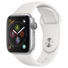 Часы Apple Watch Series 4 GPS 40mm Aluminum Case Silver Al/White Sport Band - Интернет магазин AT-STORE в Екатеринбурге