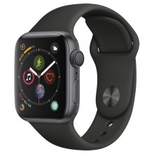 Часы Apple Watch Series 4 GPS 44mm Aluminum Case SpaceGrey Al/Black Sport Band - Интернет магазин AT-STORE в Екатеринбурге