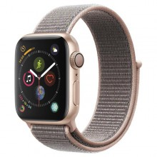 Часы Apple Watch Series 4 GPS 44mm Aluminum Case with Sport Loop Gold/Pink - Интернет магазин AT-STORE в Екатеринбурге