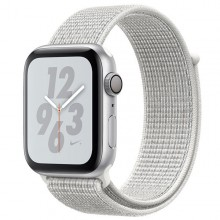 Часы Apple Watch Series 4 Nike+ GPS 44mm Aluminum Case Silver Al/Wh Nike Sport Loop - Интернет магазин AT-STORE в Екатеринбурге