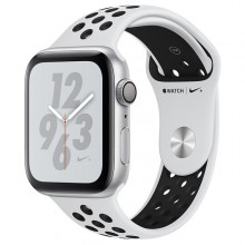 Часы Apple Watch Series 4 Nike+ GPS 44mm Aluminum Case Silver Al/Bl Nike Sport Band - Интернет магазин AT-STORE в Екатеринбурге