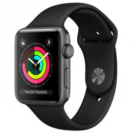 Apple Watch S3 Sport 42mm Space Gr Al/Bl Band - Интернет магазин AT-STORE в Екатеринбурге