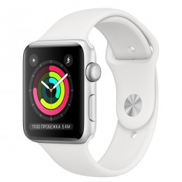 Часы Apple Watch Series 3 42mm Aluminum Case Silver Al/White Band - Интернет магазин AT-STORE в Екатеринбурге