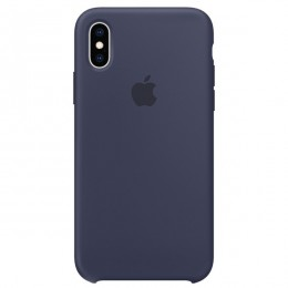 Чехол Apple iPhone XS Max Silicone Case Midnight Blue - Интернет магазин AT-STORE в Екатеринбурге